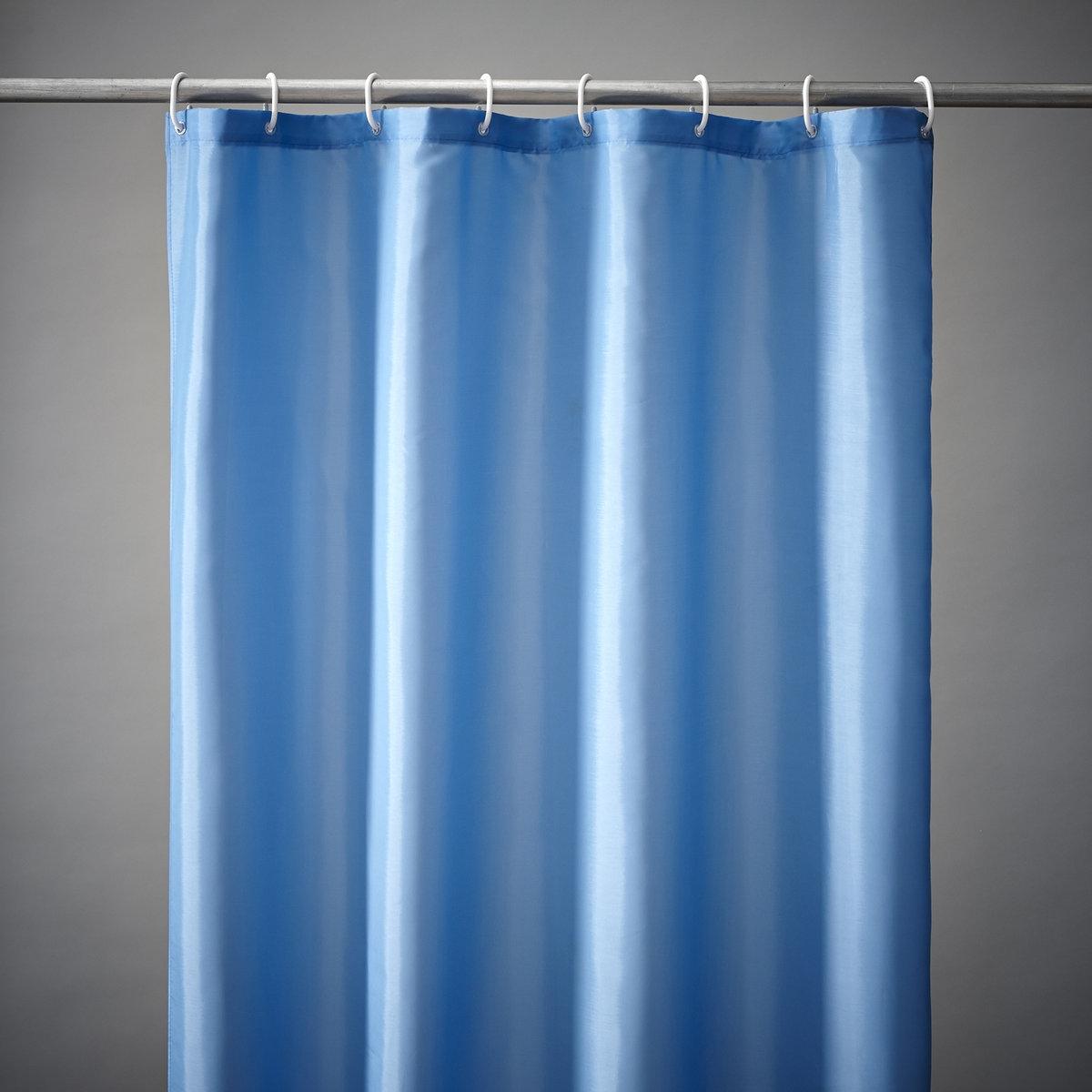 Штора для душа Sc?narioШтора для душа в 8 великолепных цветах для создания атмосферы гармонии в ванной комнате! Штора для душа из эластичного и непромокаемого текстиля, 100% полиэстера.Крепление с помощью пластиковых прозрачных крючков, идут в комплекте.Низ с грузиками для идеального натяжения.Размер шторы для душа: высота 200 см, два варианта ширины: 120 см или 180 см.<br><br>Цвет: зеленый анис,синий океан,слоновая кость<br>Размер: 200 x 180 см.200 x 180 см.200 x 120 см.200 x 120 см