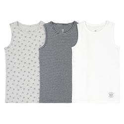 Lote de 3 camisetas de tirantes de algodón orgánico, 2-12 años