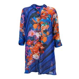 Tunique Blue Flowers Camisole Bleu MIRADONNA