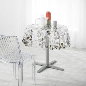 Nappe Imperméable Ronde En PVC - D 140 Cm - feuilles de printemps DOUCEUR D'INTÉRIEUR