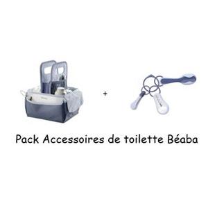 Pack accessoires de toilettes Béaba avec un panier nursery + un set d'accessoires de toilette BEABA