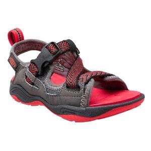 Rock Iguana - Sandales Enfant - gris/rouge KEEN