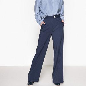 Pantalon large, taille haute La Redoute Collections