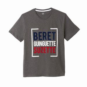 T-shirt col rond, motif imprimé Slub La Redoute Collections