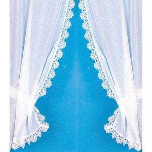 Rideau 'Bonne Femme' avec bordure macramé brillant HOME MAISON