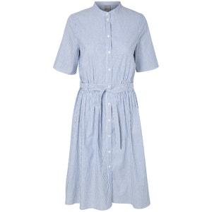 Gestreiftes Kleid mit kurzen Ärmeln und rundem Ausschnitt VERO MODA