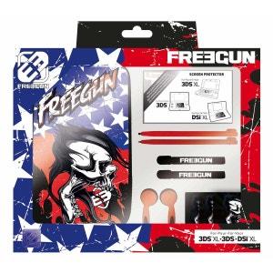 Pack de 7 éléments motif Freegun  pour  Nintendo 3DSXL compatible 3DS et DSIXL BIG BEN