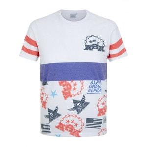 T-Shirt Tee Manche Courte Imprimé BLUE INC