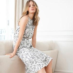 Lange bedrukte jurk atelier R