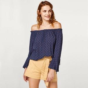 Langärmelige Bluse, bedruckt ESPRIT