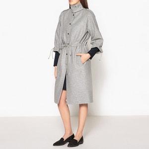 Manteau long avec lien en cuir CARVEN