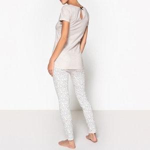 Bedrukte lange pyjama in katoen, Ananas DODO