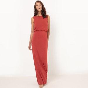 Gładka, długa sukienka z dzianiny atelier R