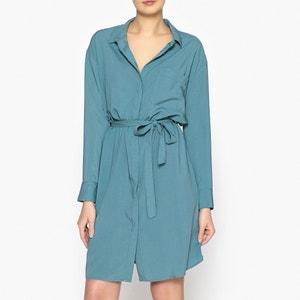 Robe chemise à nouer à la taille MARIE SIXTINE