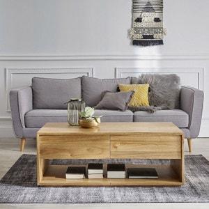 Table basse en bois de mindy 120 cm BOIS DESSUS BOIS DESSOUS
