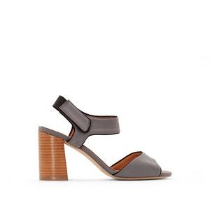 Sandalen met hoge hak en klittenbandsluiting La Redoute Collections