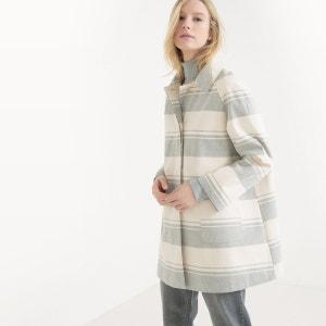 Manteau trapèze à rayures R essentiel