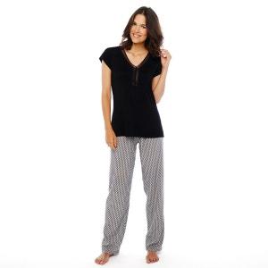 Pyjama noir/rouge Garçonnière POMM'POIRE