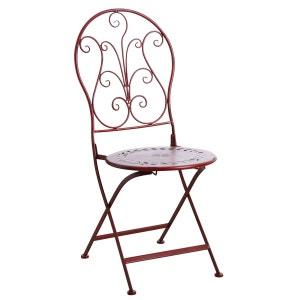 Chaise de terrasse pliante en métal AUBRY GASPARD
