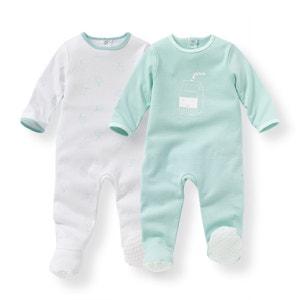 Pyjama coton 0 mois-3 ans (lot de 2) R mini