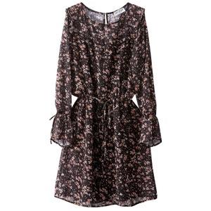 Ruffled Floral Print Dress R studio
