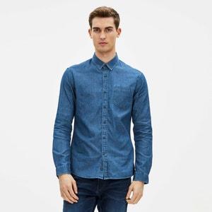 Ganrique 100% Cotton Denim Fitted Shirt CELIO