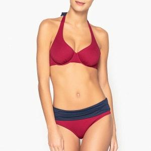Bas de maillot de bain taille haute bicolore La Redoute Collections