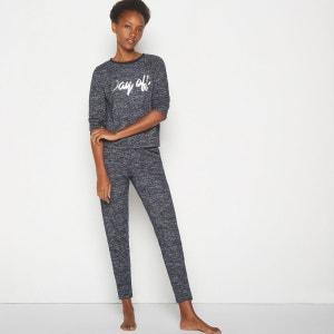Pantalon de pyjama en maille chiné MONOPRIX