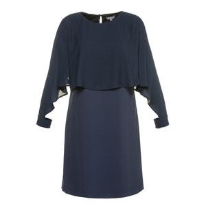Prosta sukienka z nadrukiem, długość midi, krótki rękaw ULLA POPKEN