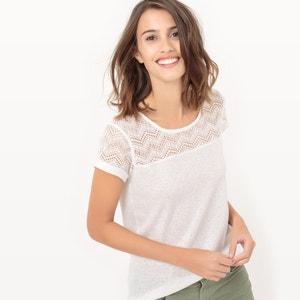 Ażurowy T-shirt z krótkim rękawem LE TEMPS DES CERISES