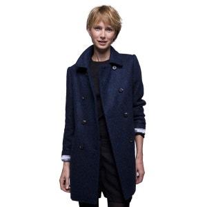 Manteau poilu en laine et alpaga TRENCH AND COAT