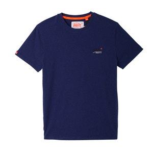 T-shirt lisa com gola redonda, mangas curtas SUPERDRY