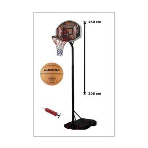Hudora 71664 Panier de basket avec socle à lester + Ballon et pompe HUDORA