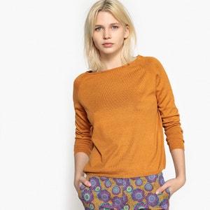 Sweter z cienkiej dzianiny, z dekoltem w łódkę, prosty krój La Redoute Collections