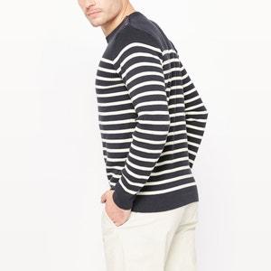 Jersey con el cuello redondo, estilo marinero, de algodón orgánico La Redoute Collections