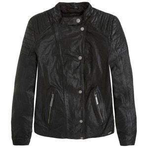 ROCKY Leather Biker Jacket PEPE JEANS