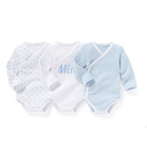 Pack of 3 Organic Cotton Newborn Bodysuits, Birth-3 Years R essentiel