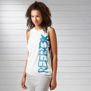 T-shirt senza maniche logo Reebok REEBOK