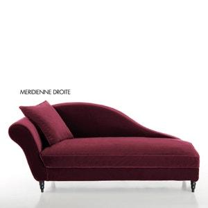 Longchair in fluweel, Lipstick La Redoute Interieurs
