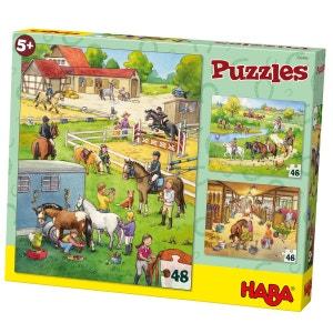Puzzle 3 x 48 pièces : Le Centre Equestre HABA