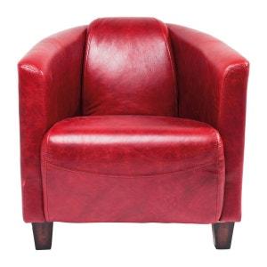 Fauteuil Cuir Rouge La Redoute - Fauteuil cuir rouge