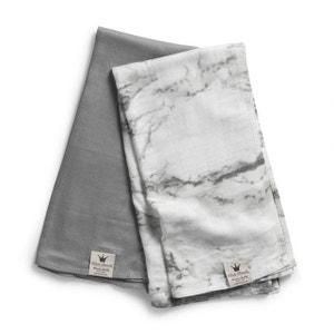 Lot de 2 langes Marble Grey ELODIE DETAILS ELODIE DETAILS