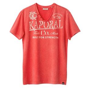 Tazor V-Neck T-Shirt with Print Motif KAPORAL 5
