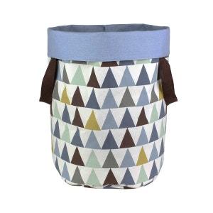 Grand panier de rangement en coton avec poignées Triangles 60x40cm ART FOR KIDS