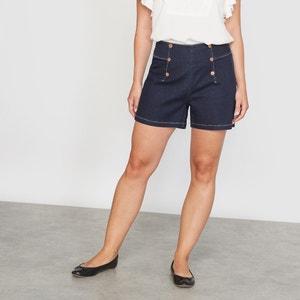 Shorts, Stretch-Denim, Dark Blue CASTALUNA