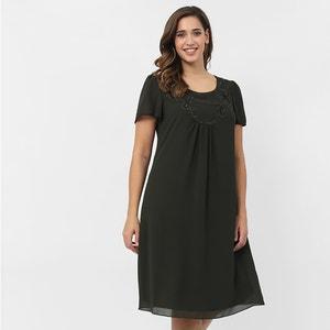 Straight Short-Sleeved Dress LOVEDROBE