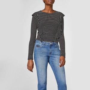 T-shirt con scollo rotondo, maniche lunghe ESPRIT