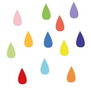 Stickers muraux : Gouttes de pluie DECOLOOPIO