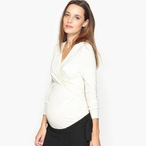 T-shirt kopertowy ciążowy i dla kobiet karmących piersią La Redoute Collections
