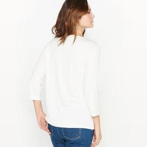 T-shirt bi-matière, brodé ANNE WEYBURN